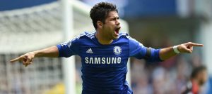 Costa scores against Swansea City