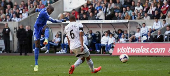 Demba Ba scores against Swansea
