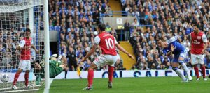 John Terry in action against Arsenal