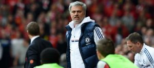 Jose celebrates against Liverpool
