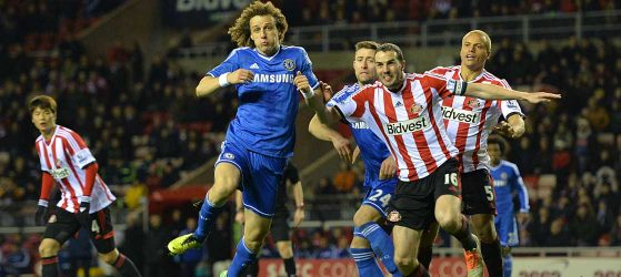 David Luiz in action against Sunderland