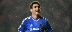 Oscar celebrates against Southampton