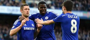 Cahill celebrares against Bradford