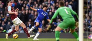 Diego Costa in action against Burnley