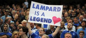 Chelsea fans show there support for Frank Lampard