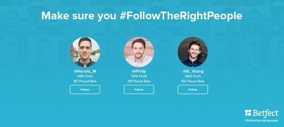 Follow the right people