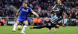 Ivanovic in action against Newcastle