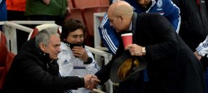 Jose Mourinho and Ray Wilkins