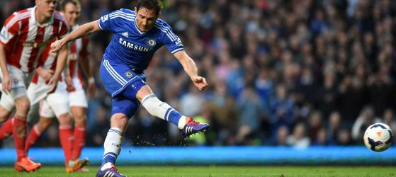 Lampard in action against Stoke City