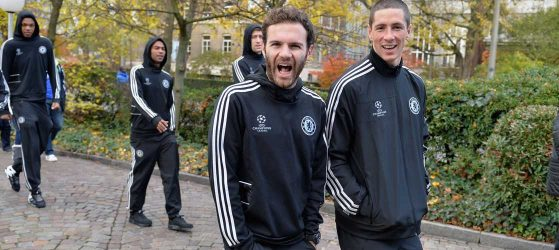 Mata and Toress relax before Basel fixture