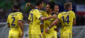 Matic celebrates against Sporting Lisbon