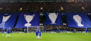 Matthew Harding Lower fans show their support