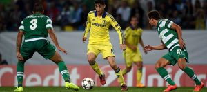 Oscar in action against Sporting Lisbon