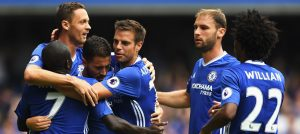 Chelsea celebrate against Burnley